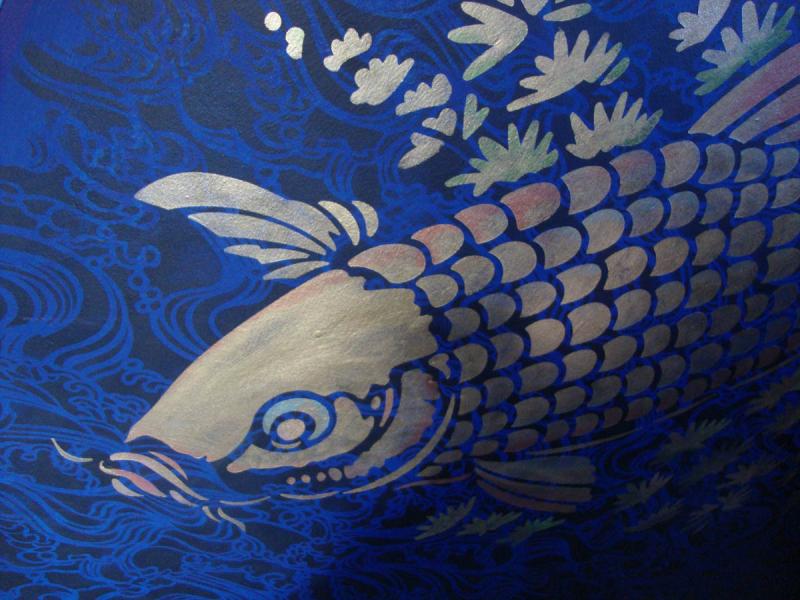 Big fish stencil