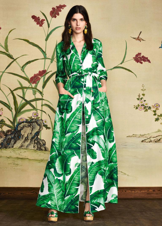 Dolce e gabbana banana leaf dress