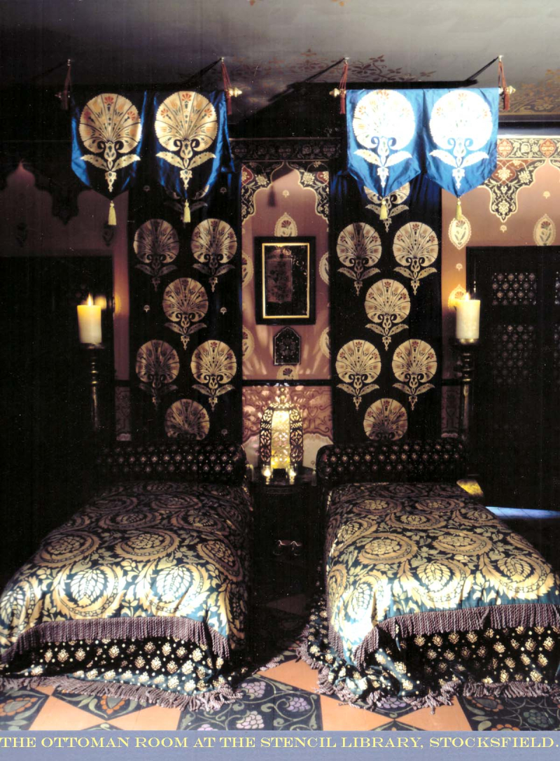 Opulent stencilled bedroom stocksfield hall