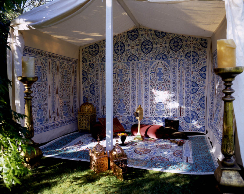 Stencilled_exotic_tent_stocksfield