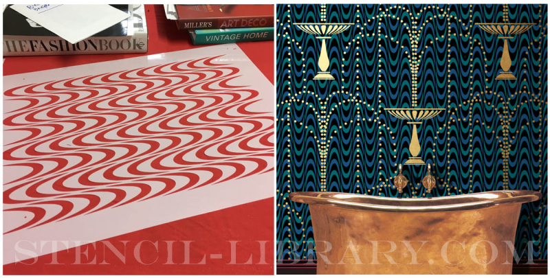 Solid silk stencil b&a