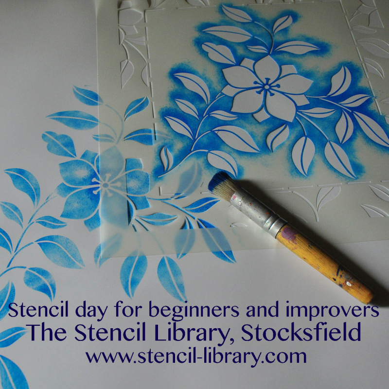 Pattern repeat stencil beginners