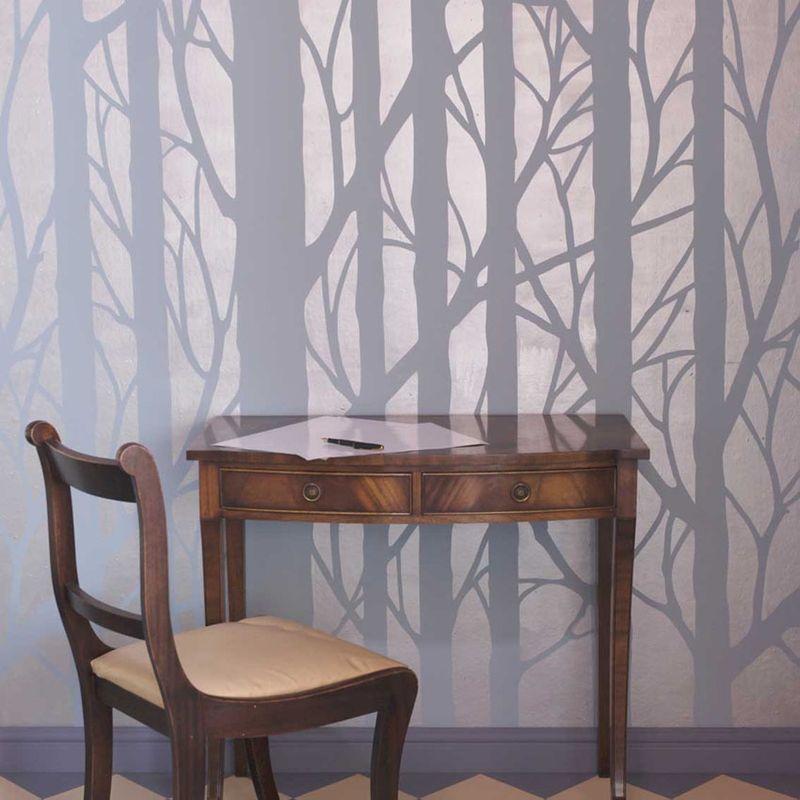 1 Bare trees stencil library blog