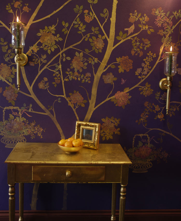 4 Chinoiserie tree stencil