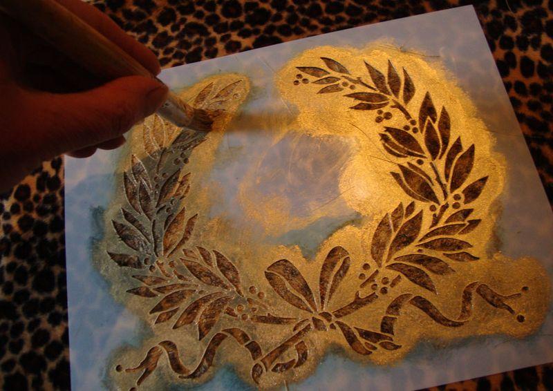 6 stencilling garland 50