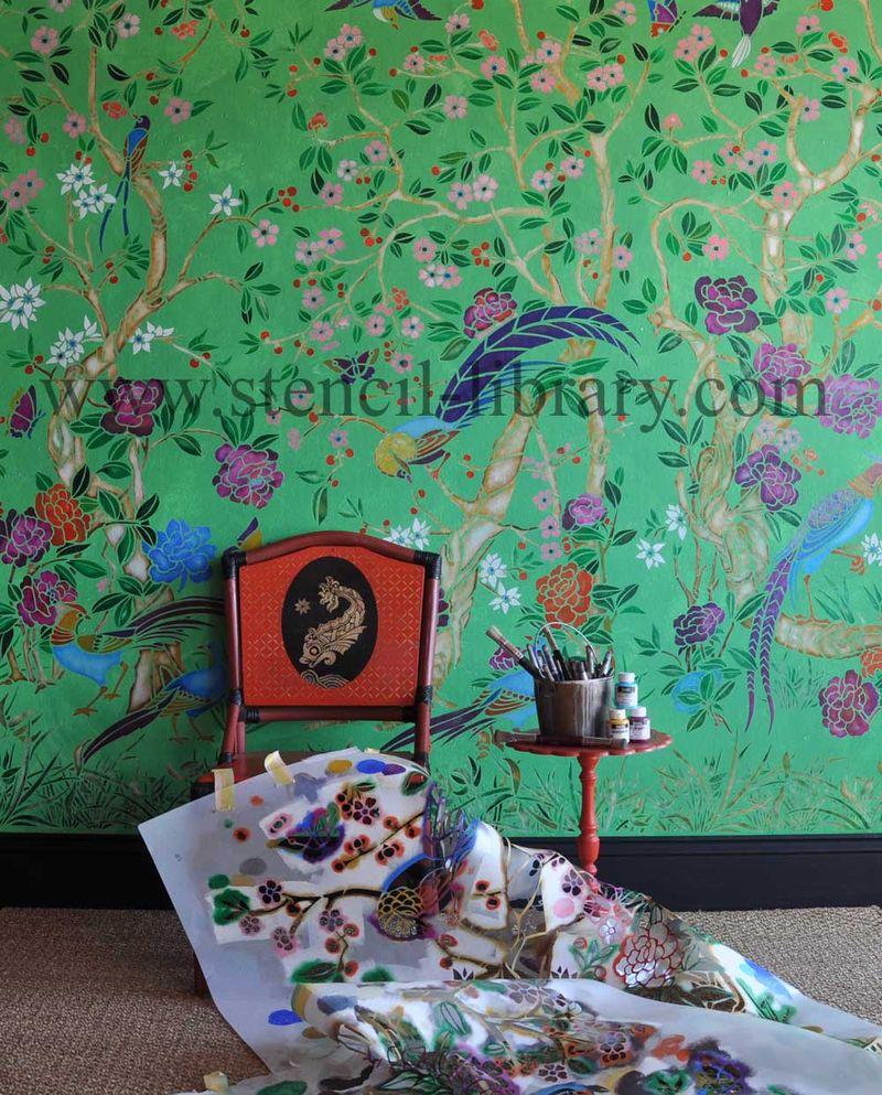 Chinoiserie stencil helen morris. 39