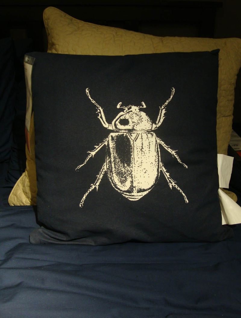 Ikea beetle cushion
