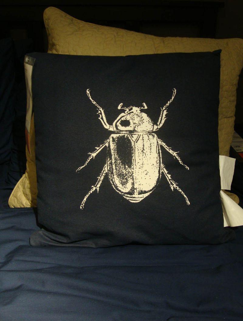 Ikea beetle cushion