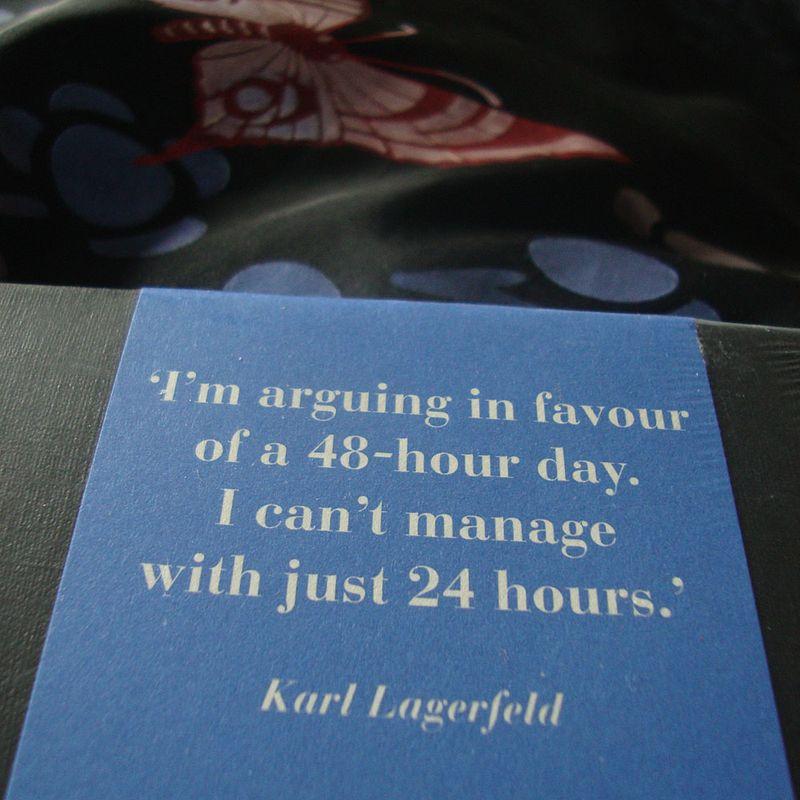 Karl Lagerfeld diary12