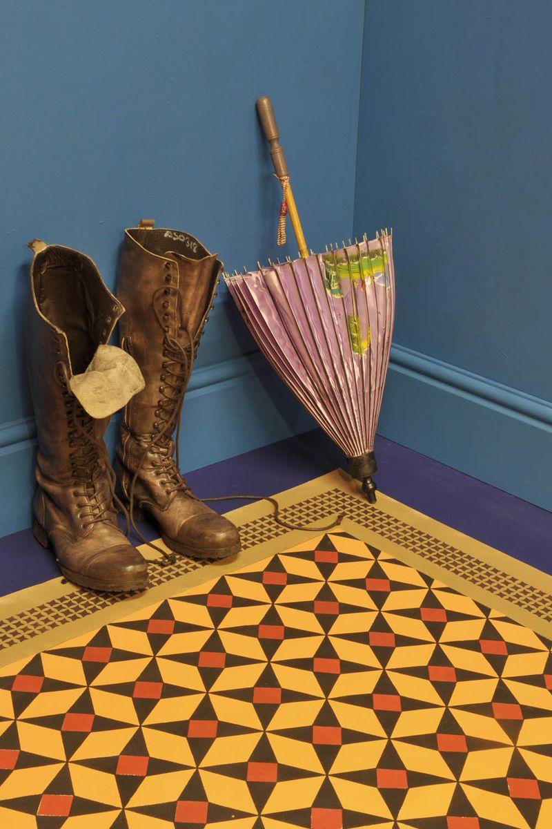 6 morrocan stencil floor
