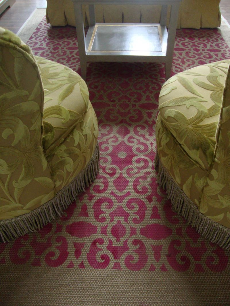 7 susi's stencilled sisal