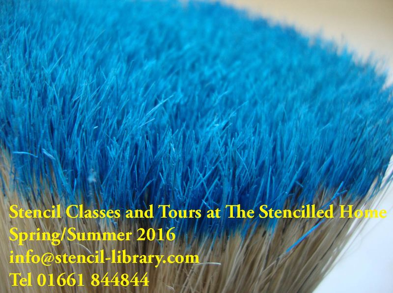 Blue stencil brush 93
