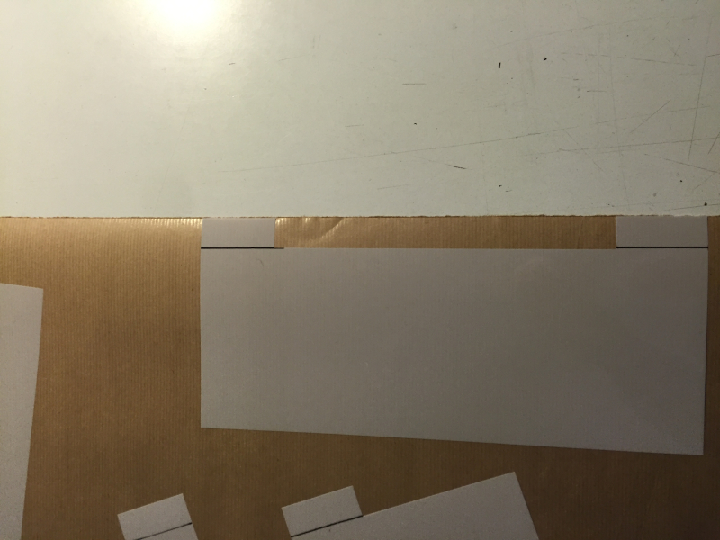 Straight trim stencil