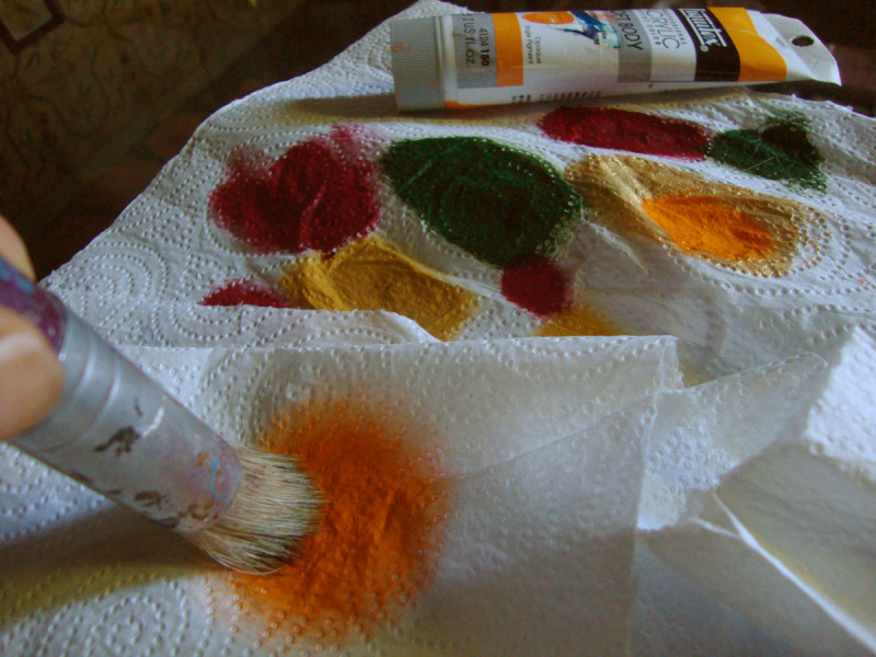 Paint and paper towel78