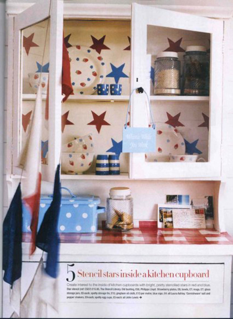 CS57 star stencil Easy Living UK 06.06