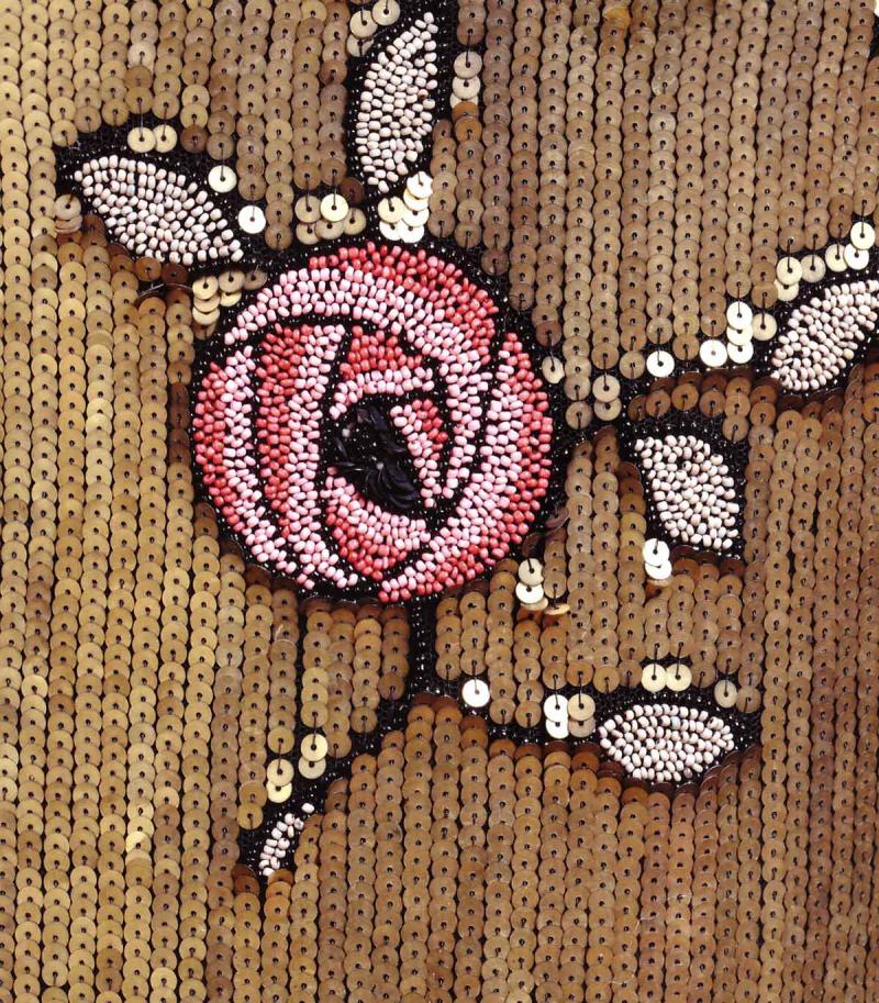 Sequin deco rose