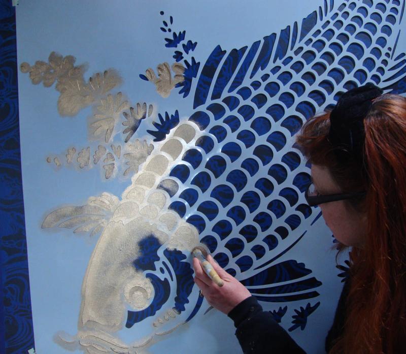 Stencilling big fish