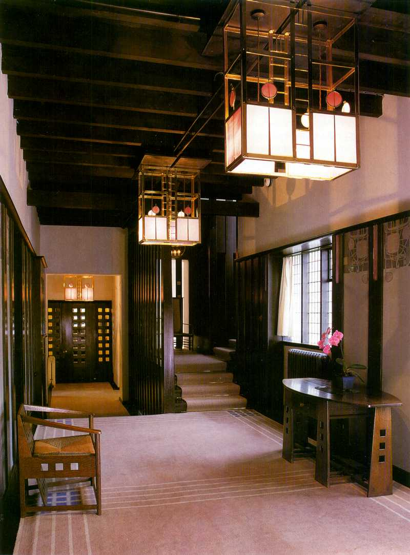 Mackintosh hill house hallway