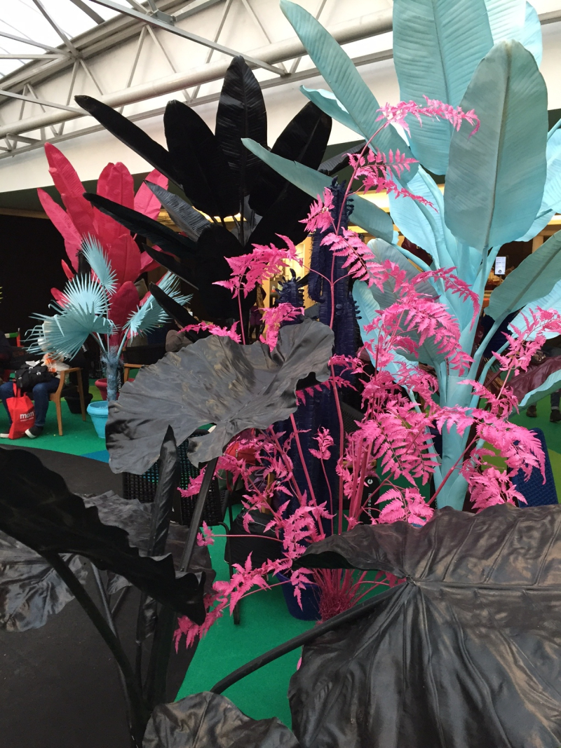 Coloured jungle plants at maison et object 2017