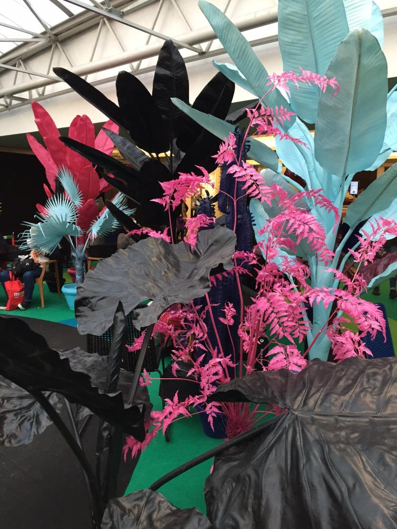 Coloured jungle plants at maison et object 2017