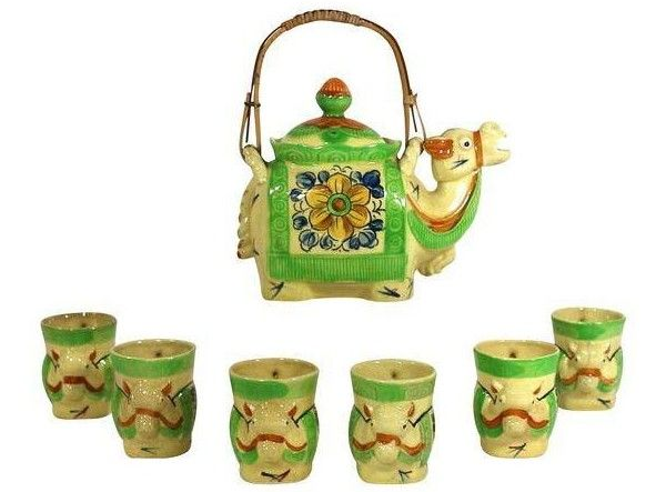 Camel tea set