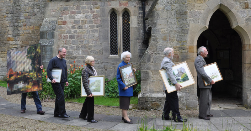Arrivals at Bywell Arts banner 03