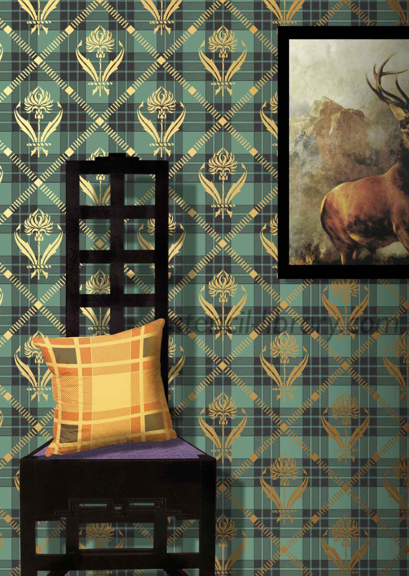 CS29thistle+tartan_stencil-library_set