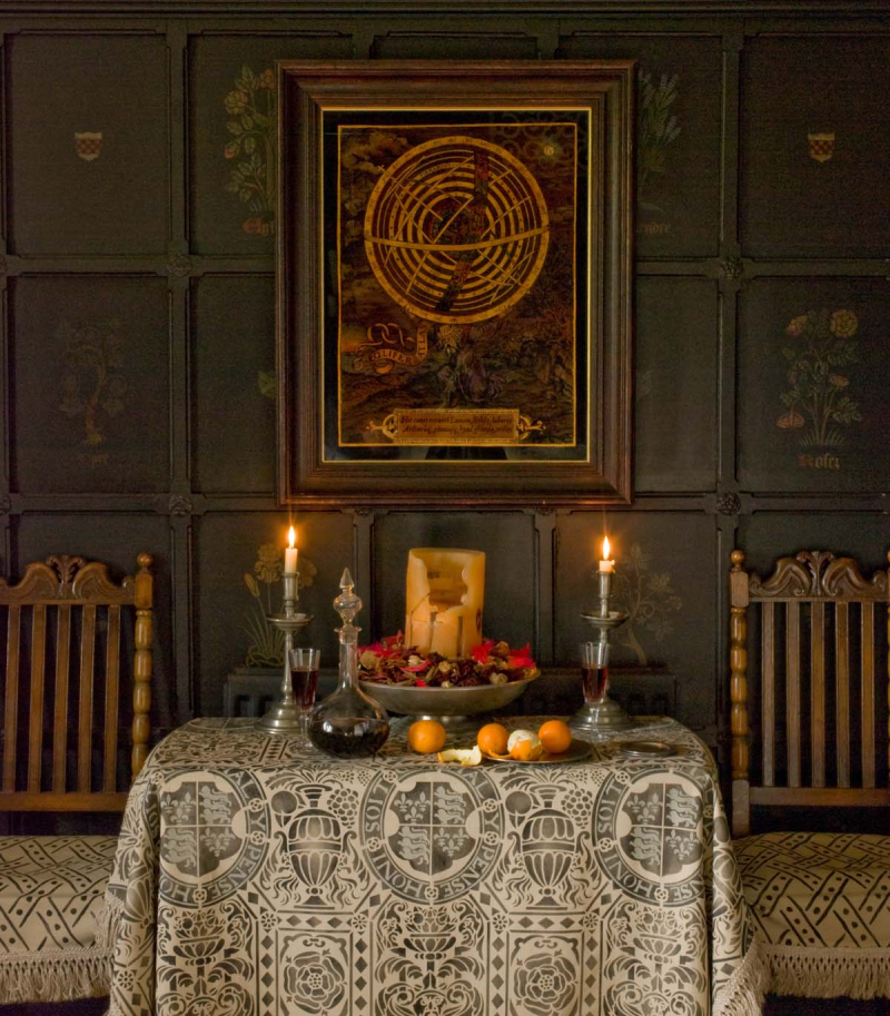 Gothic style stencil-library wall and fabric stocksfield