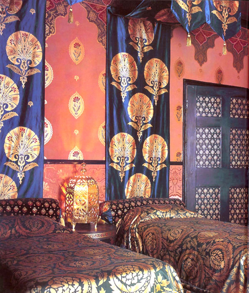 Ottoman style stencilled room stocksfield hall