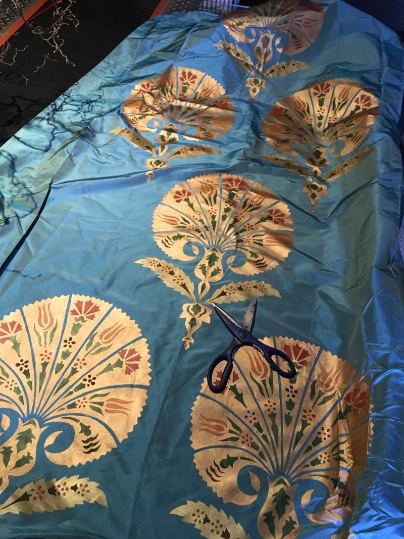 Ott51 palmette stencil-library fabric
