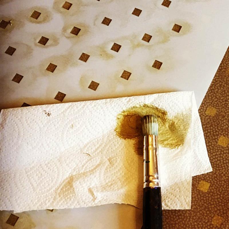 Paint towel stencil
