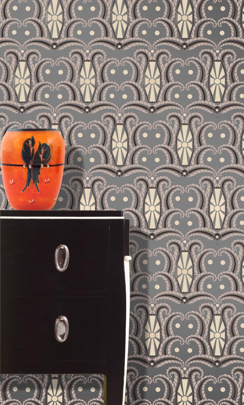 DE326 Art Deco Tile StencilLibrary