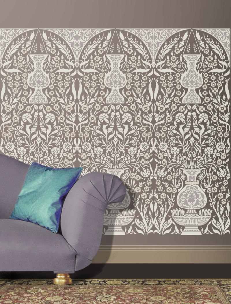 OTT50 Panel No4 Grey Colourway Stencil Library