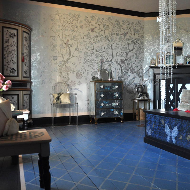 Chinoiserie bedroom at stencil-library _ch1-4