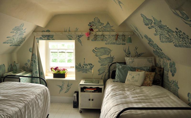 Stencil library willow pattern attic 206