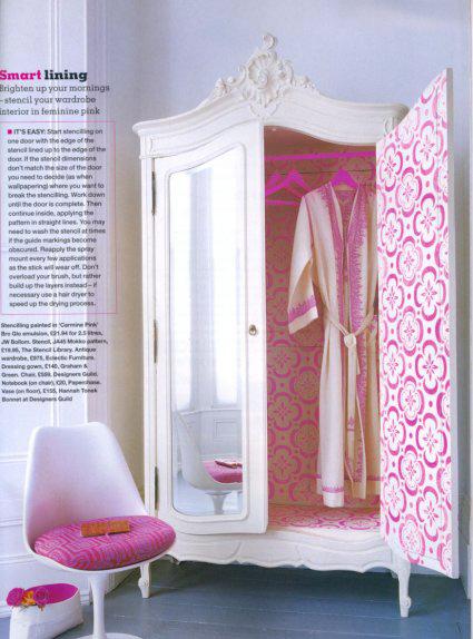 Mokko stencil wardrobe Easy Liv mag