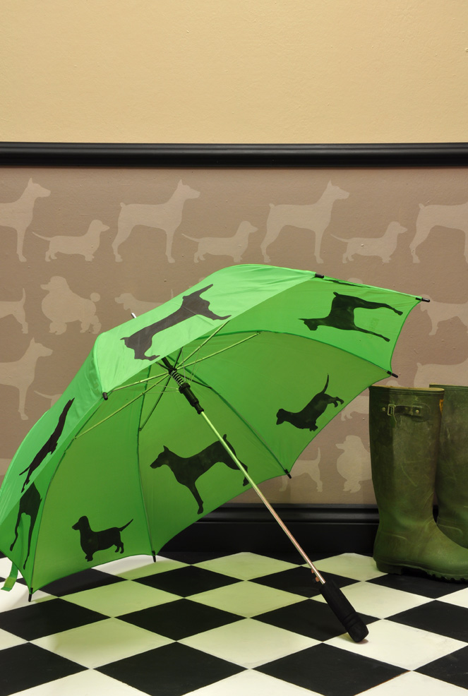 2 dog stencil Umbrella