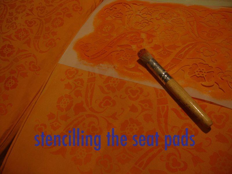 Stencil seat pads88