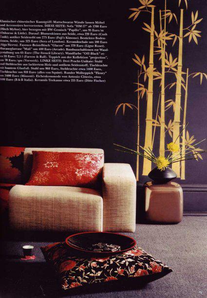 Ja bamboo stencil sania pell