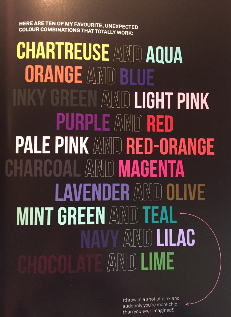 Abigail ahern colour combinations that work