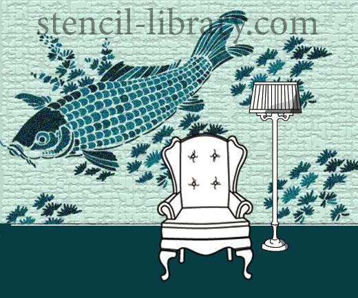 Fish stencil XLJA129