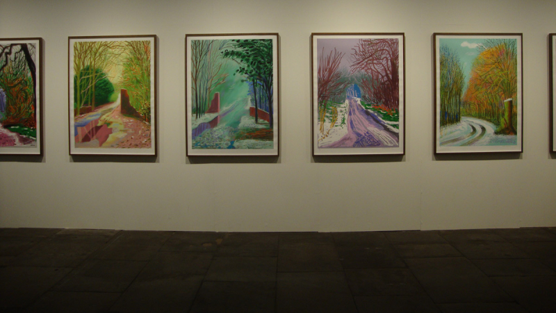 Hockney arrival of spring