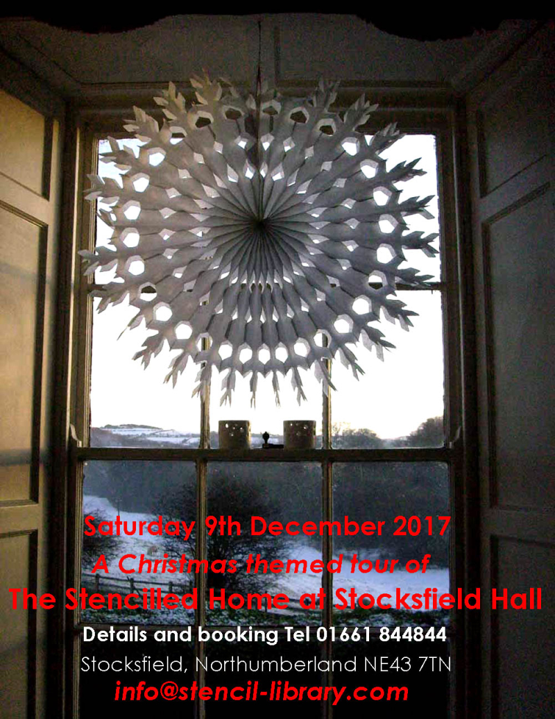 Paper snowflake at the stencil library  stocksfield hall 4063