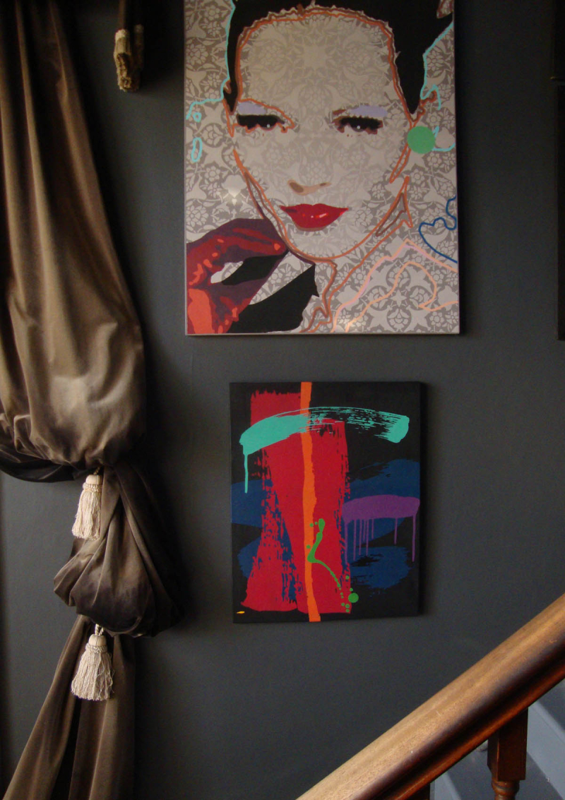 Portrait and abstract painting M Chippendale