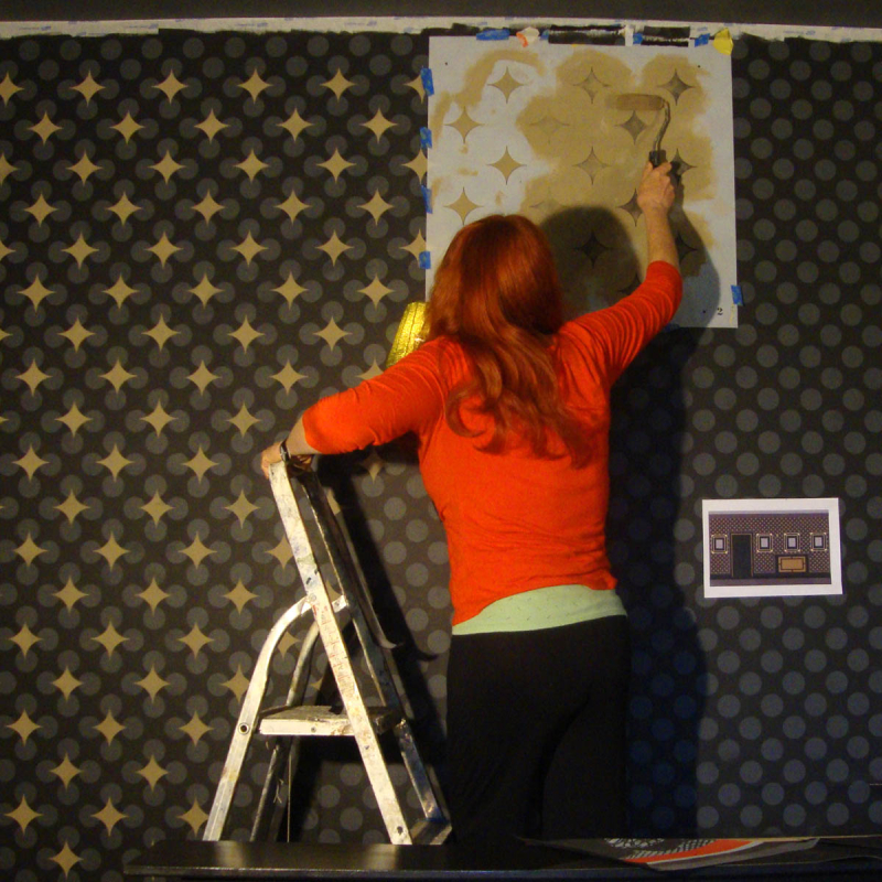 `helen Morris stencils stars over lichtenstein at stocksfield hall