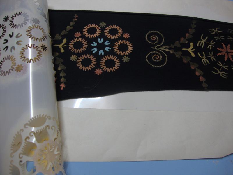 Stencilled sleeve 23
