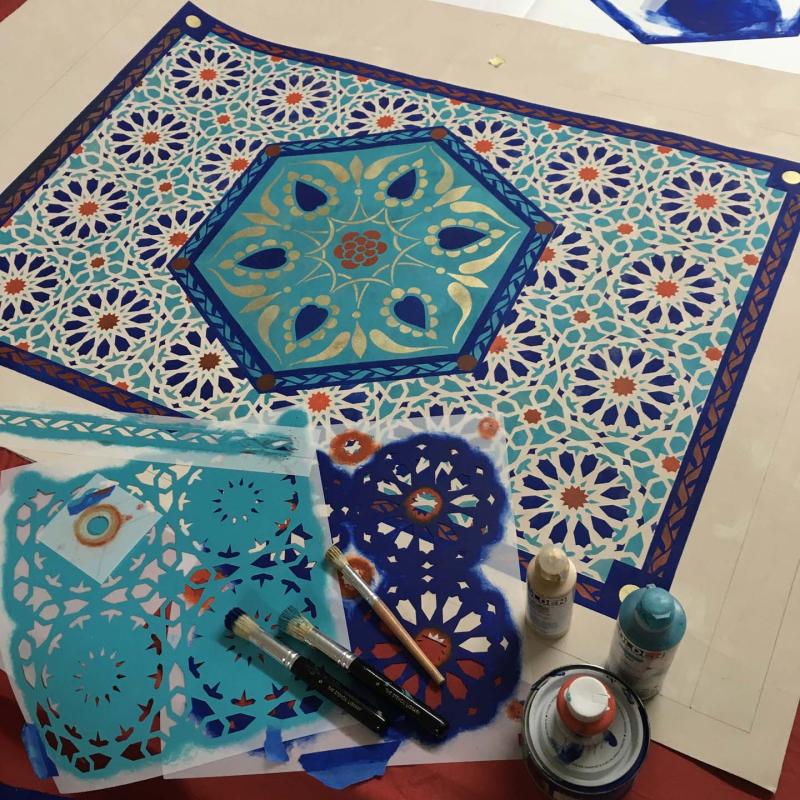 Idal stencil-library floorcloth class 400