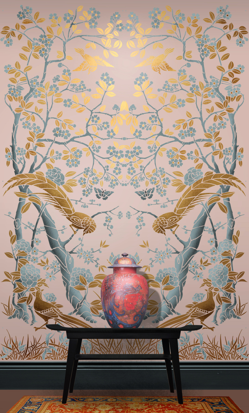 CH3 Chinoiserie Panel Stencil Library