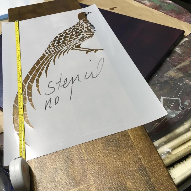 Pheaseant stencil-library 921