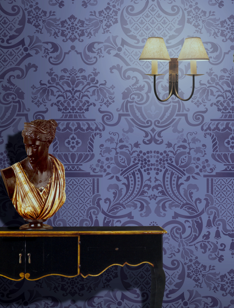 FR6 Versailles Repeat Stencil Library
